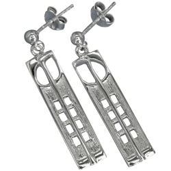 "232 Cairn® Sterling silver Charles Rennie Mackintosh earrings ""Hill House"""