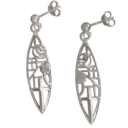 "262 Cairn® Sterling silver Charles Rennie Earrings ""Martyr"""