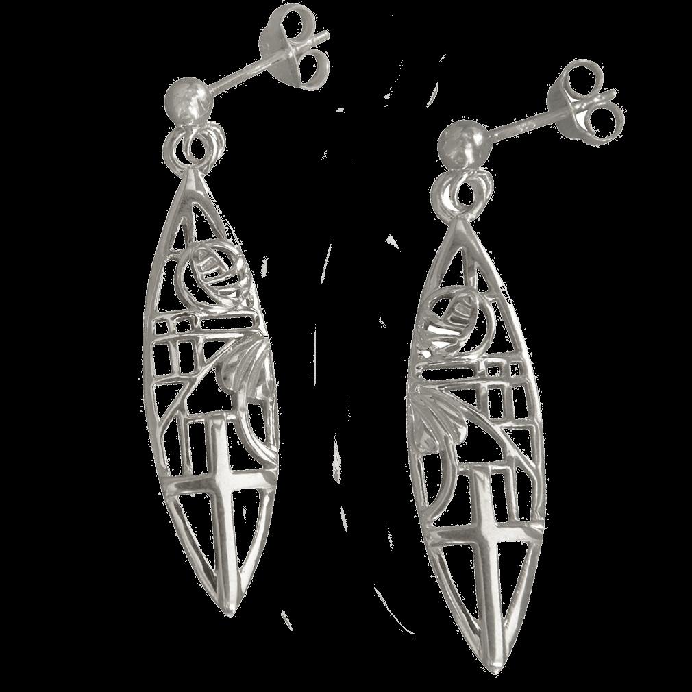 """262 Cairn® Sterling silver Charles Rennie Earrings """"Martyr"""""""
