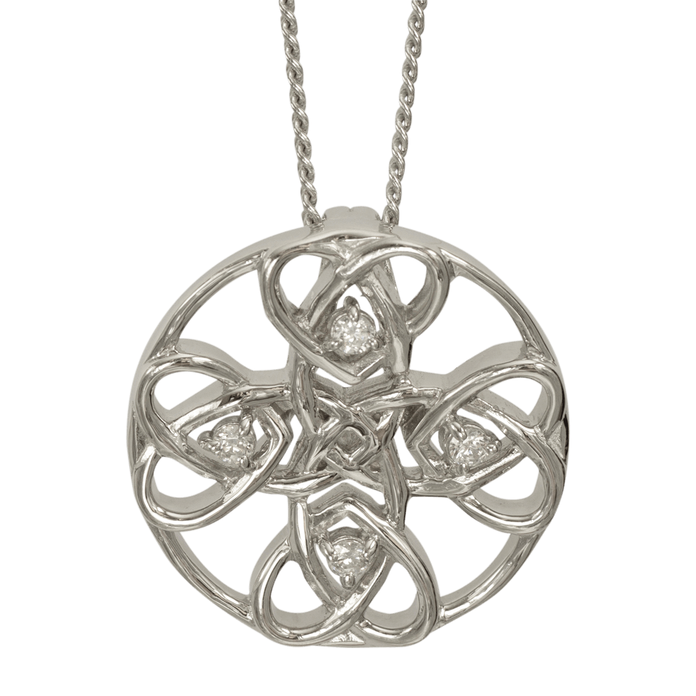 """3133 Cairn® Celtic Sterling silver necklace """"Alvie"""" Set with cubic zirconias"""