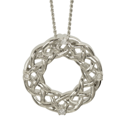 "3141 Cairn® Celtic Sterling silver necklace ""Strone"" Set with cubic zirconias"