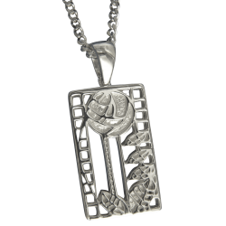 "401 Cairn® Sterling silver Charles Rennie Mackintosh necklace ""de luxe"""