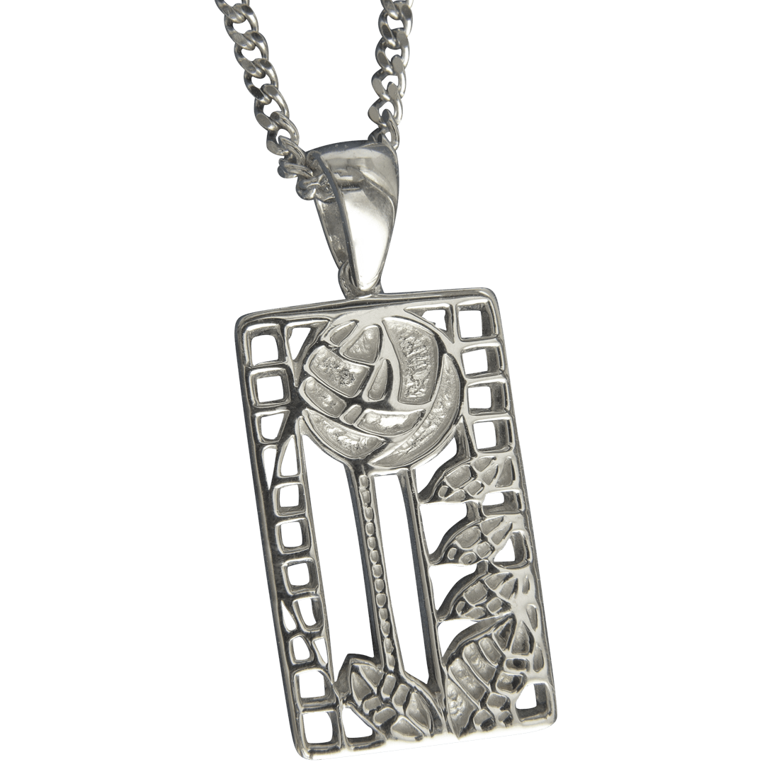 """401 Cairn® Sterling silver Charles Rennie Mackintosh necklace """"de luxe"""""""