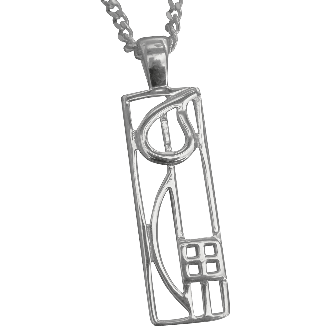 "522 Cairn® Sterling silver Charles Rennie Mackintosh necklace ""Cranston"""