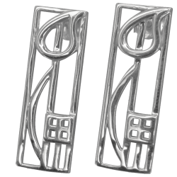 "523 Cairn® Sterling silver Charles Rennie Mackintosh earrings ""Cranston"""