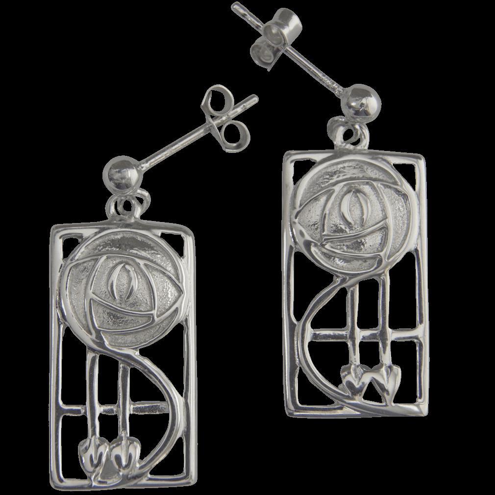 """573 Cairn® Sterling silver Charles Rennie Mackintosh earrings """"Keppie"""""""