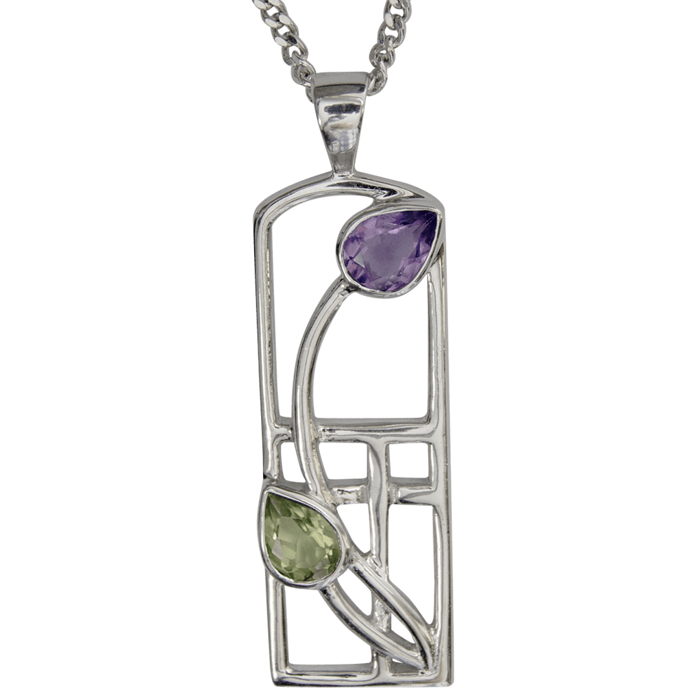 "590 Cairn® Sterling silver Charles Rennie Mackintosh necklace ""Thistle"""