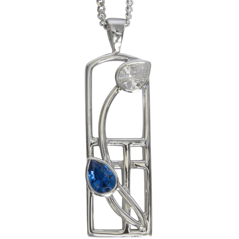 "595 Cairn® Sterling silver Charles Rennie Mackintosh necklace ""Saltire"""