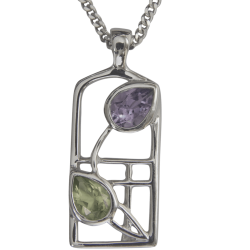 "598 Cairn® Sterling silver Charles Rennie Mackintosh necklace ""Thistle"""