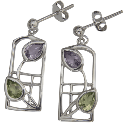 "599 Cairn® Sterling silver Charles Rennie Mackintosh earrings ""Thistle"""