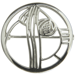 "710 Cairn® Sterling silver Charles Rennie Mackintosh Brooch ""Studio Roundel"""