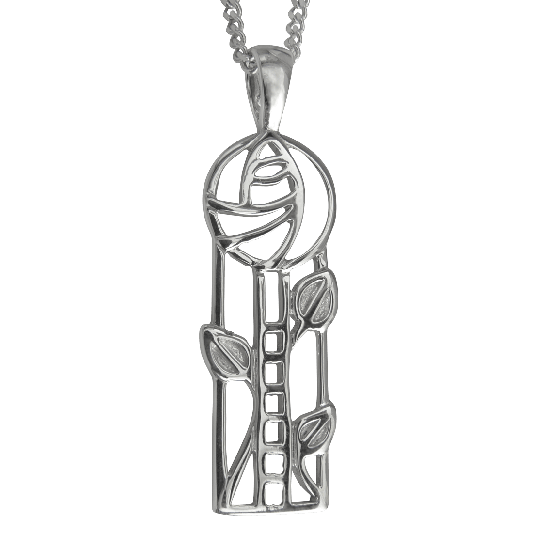 "732 Cairn® Sterling silver Charles Rennie Mackintosh necklace ""Windyhill"""