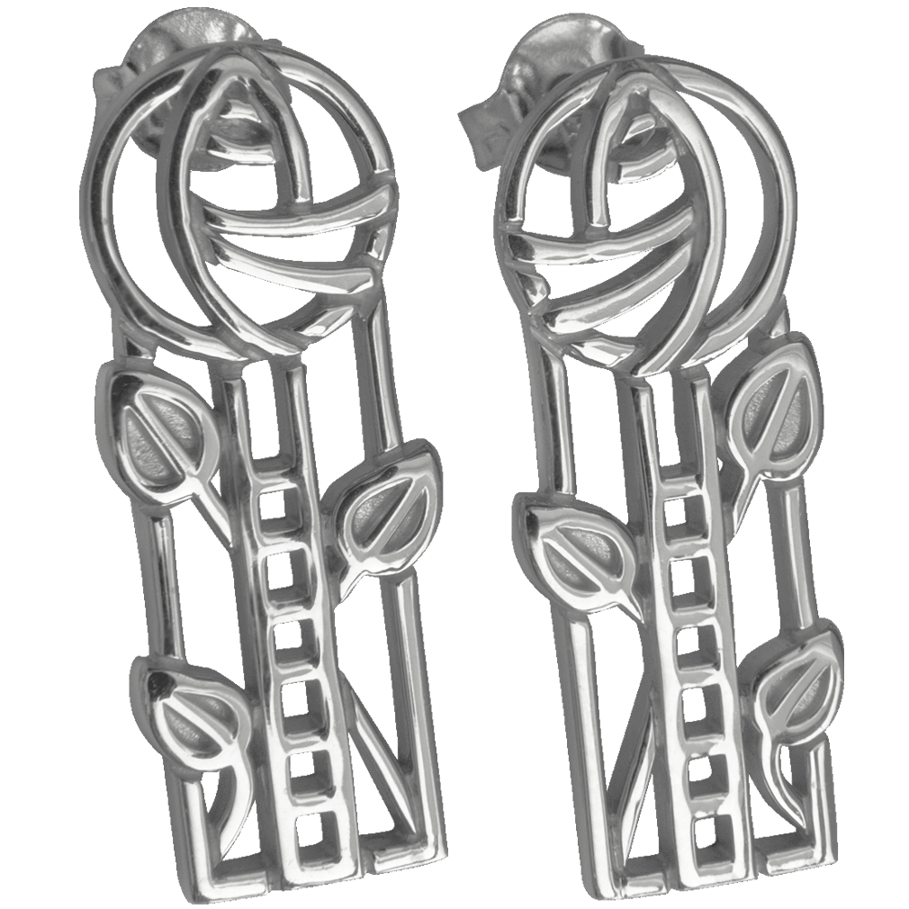 "734 Cairn® Sterling silver Charles Rennie Mackintosh earrings ""Windyhill"""