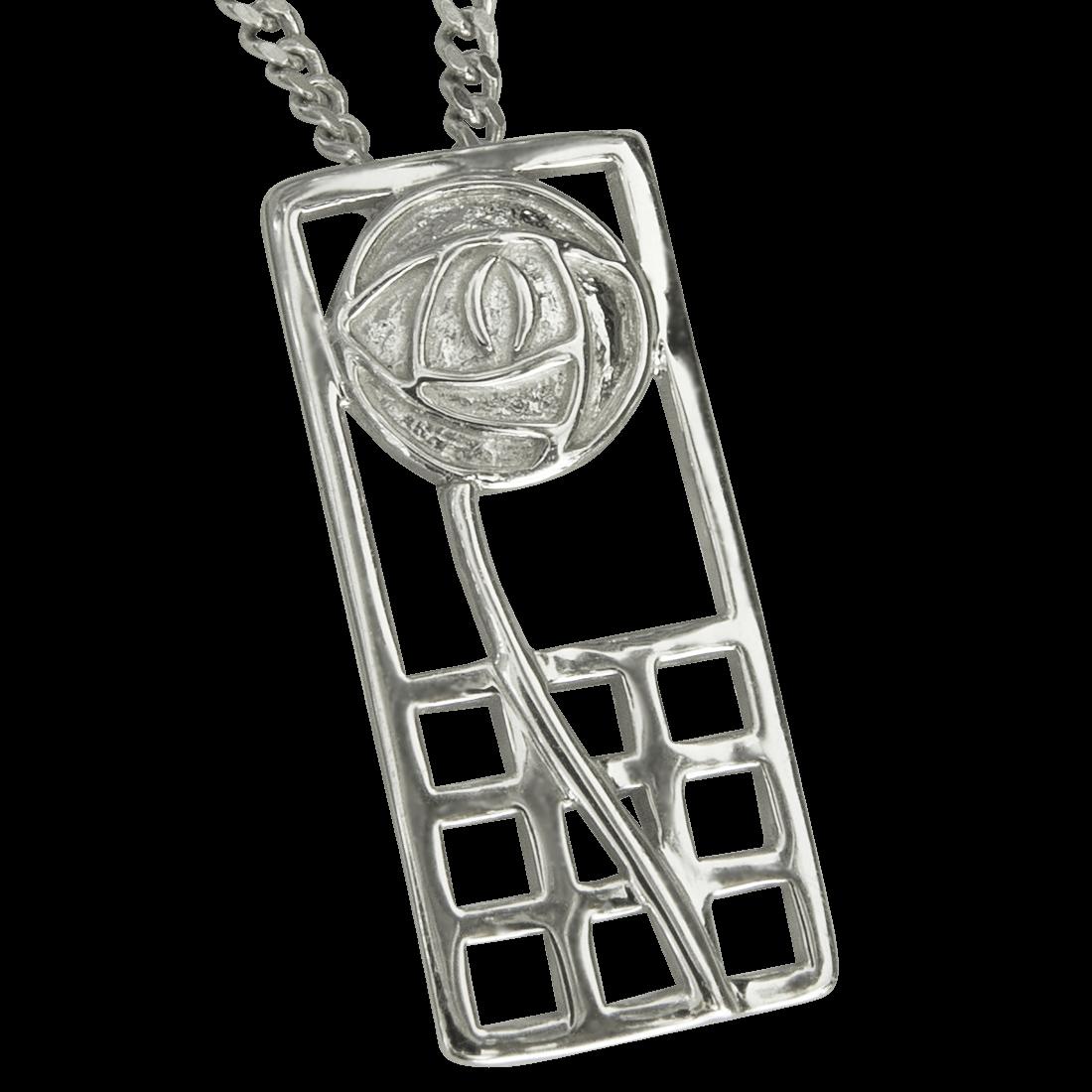 "740 Cairn® Sterling silver Charles Rennie Mackintosh necklace ""Margaret"""
