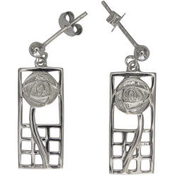 "742 Cairn® Sterling silver Charles Rennie Mackintosh earrings ""Margaret"""