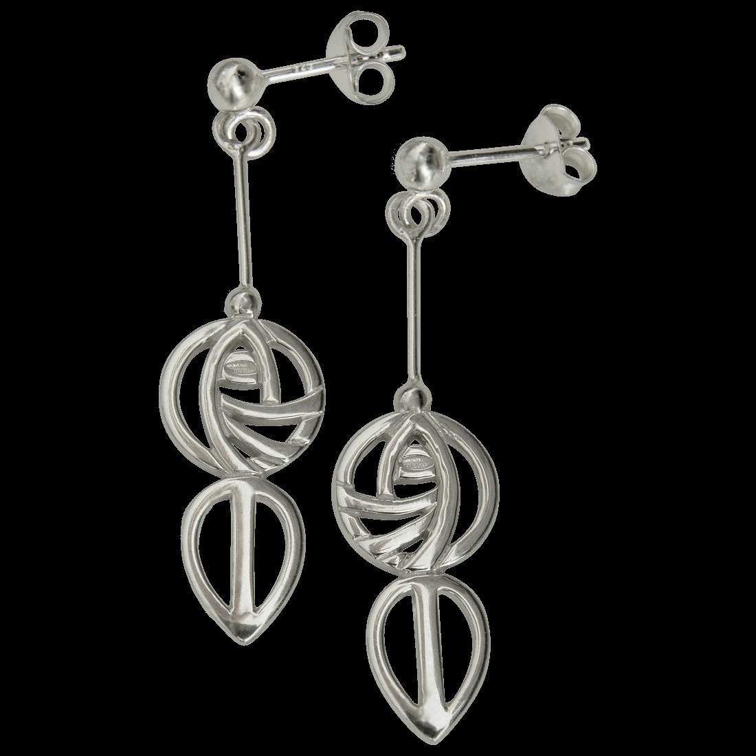 """764 Cairn® Sterling silver Charles Rennie Mackintosh """"Art School"""" earrings"""