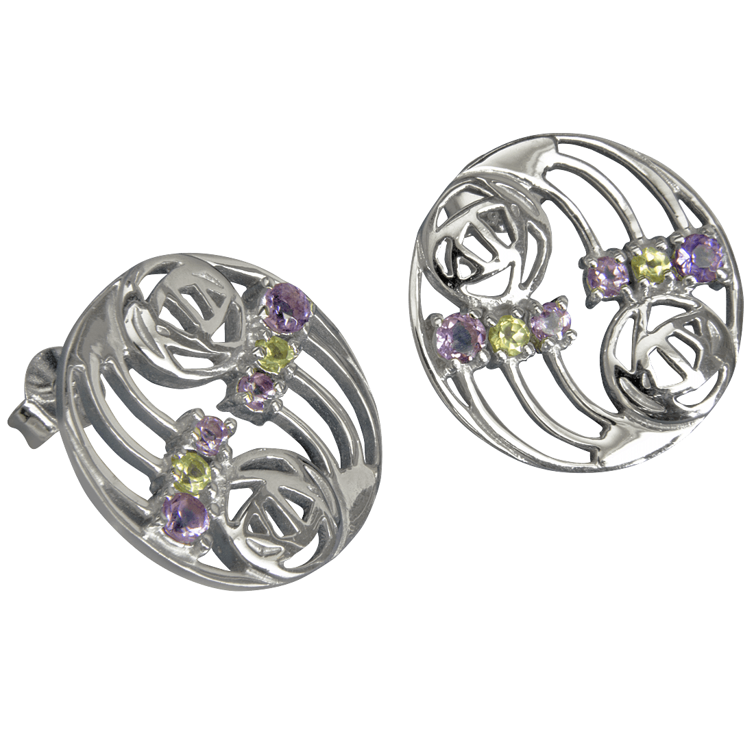 "775 Cairn® Sterling silver Charles Rennie Mackintosh earrings ""Glasgow"""