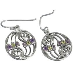 "776 Cairn® Sterling silver Charles Rennie Mackintosh earrings ""Glasgow"""