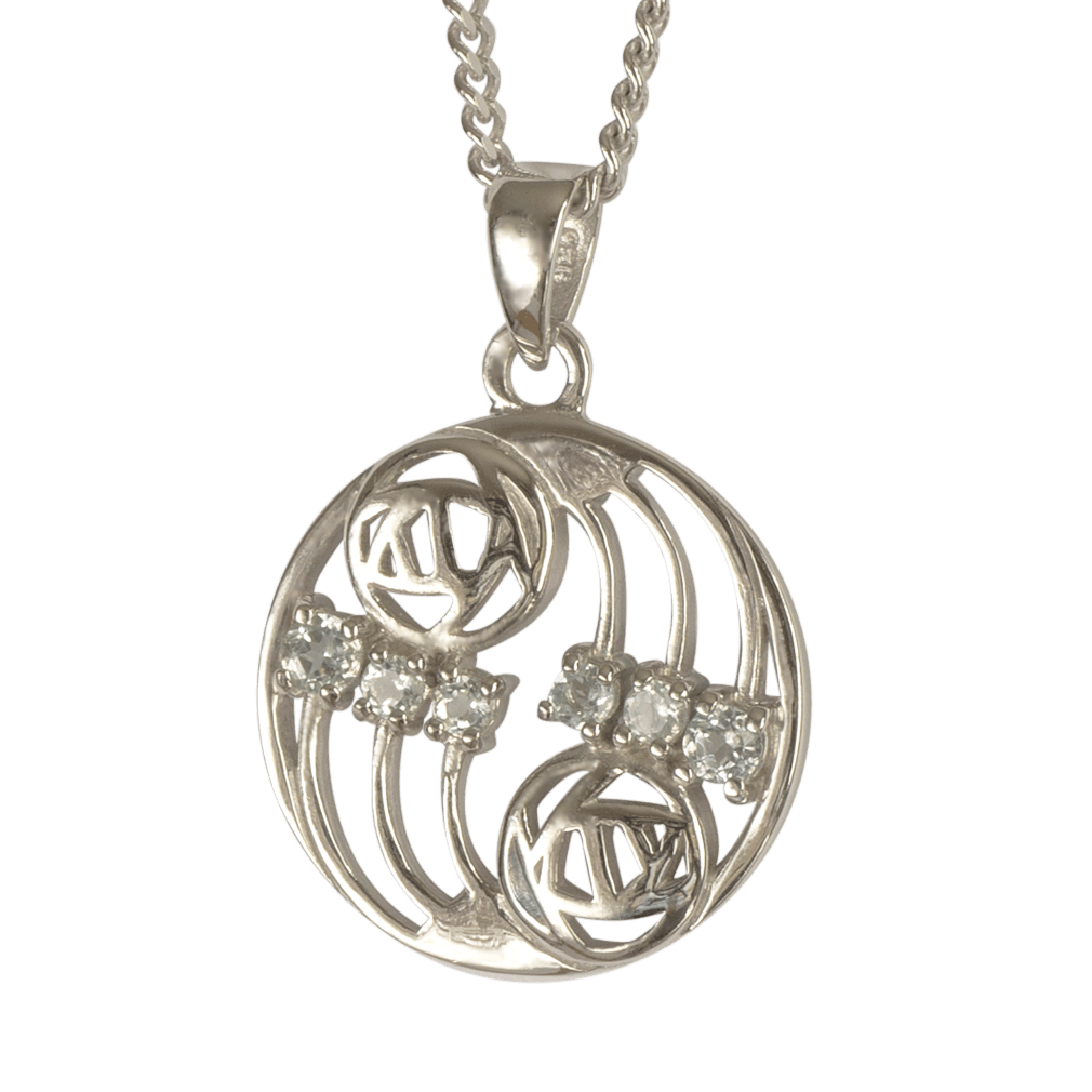 "801 Cairn® Sterling silver Charles Rennie Mackintosh pendant ""Glasgow"""