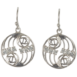 "803 Cairn® Sterling silver Charles Rennie Mackintosh earrings ""Glasgow"""