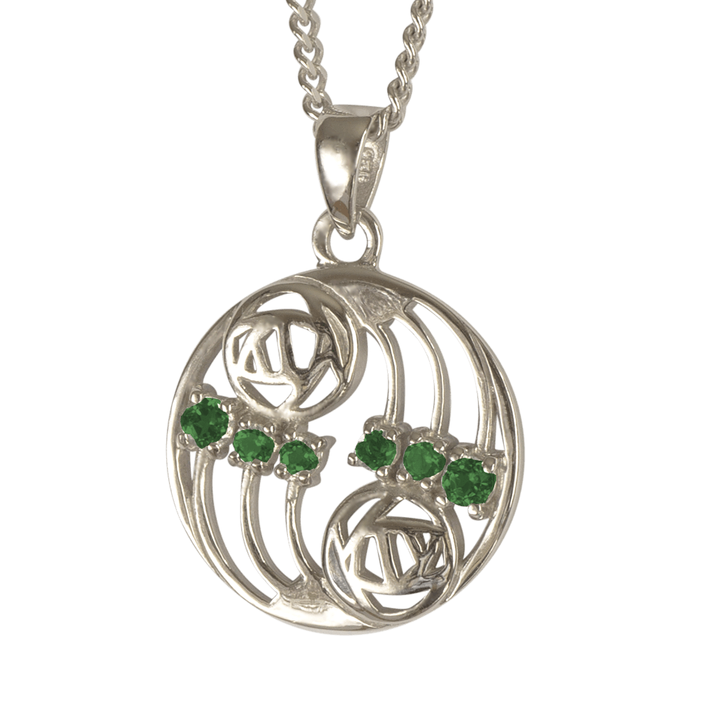"806 Cairn® Sterling silver Charles Rennie Mackintosh pendant ""Glasgow"""