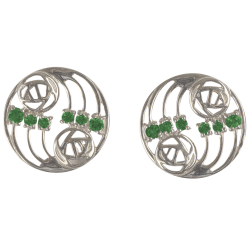 "807 Cairn® Sterling silver Charles Rennie Mackintosh earrings ""Glasgow"""