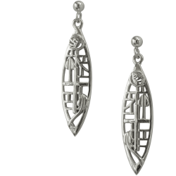 "272 Cairn® Sterling silver Charles Rennie Earrings ""Herald"""
