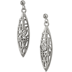 "282 Cairn® Sterling silver Charles Rennie Earrings ""McNair"""